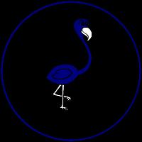 Modri flamingo